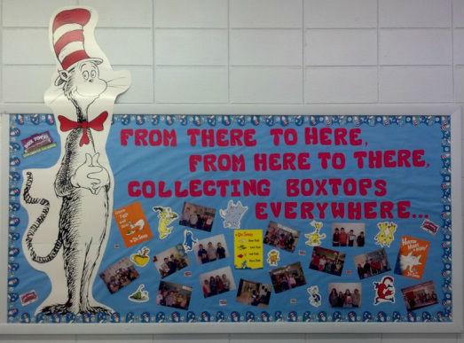 Dr. Seuss BoxTops Bulletin Board